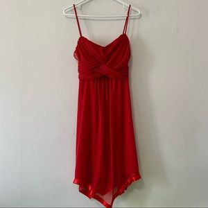 Deb Ruched Red Dress in XL